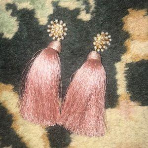 Anthropologie tassel drop earrings